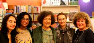 The panel from left to right: Showey Yazdanian, Anita Kushwaha, Carole Giangrande, Gail Benick, Patricia Keeney.